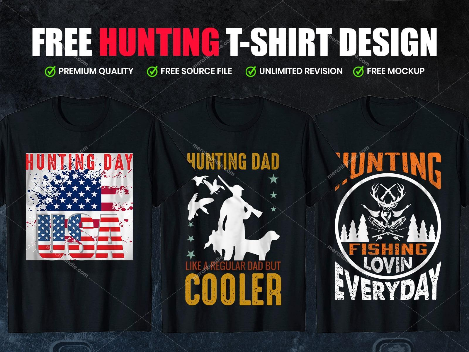 Free hunting t shirt design1