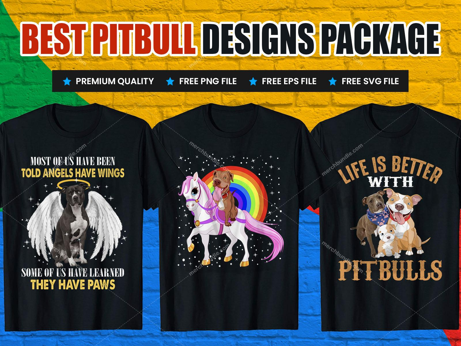 pitbull t shirt designs