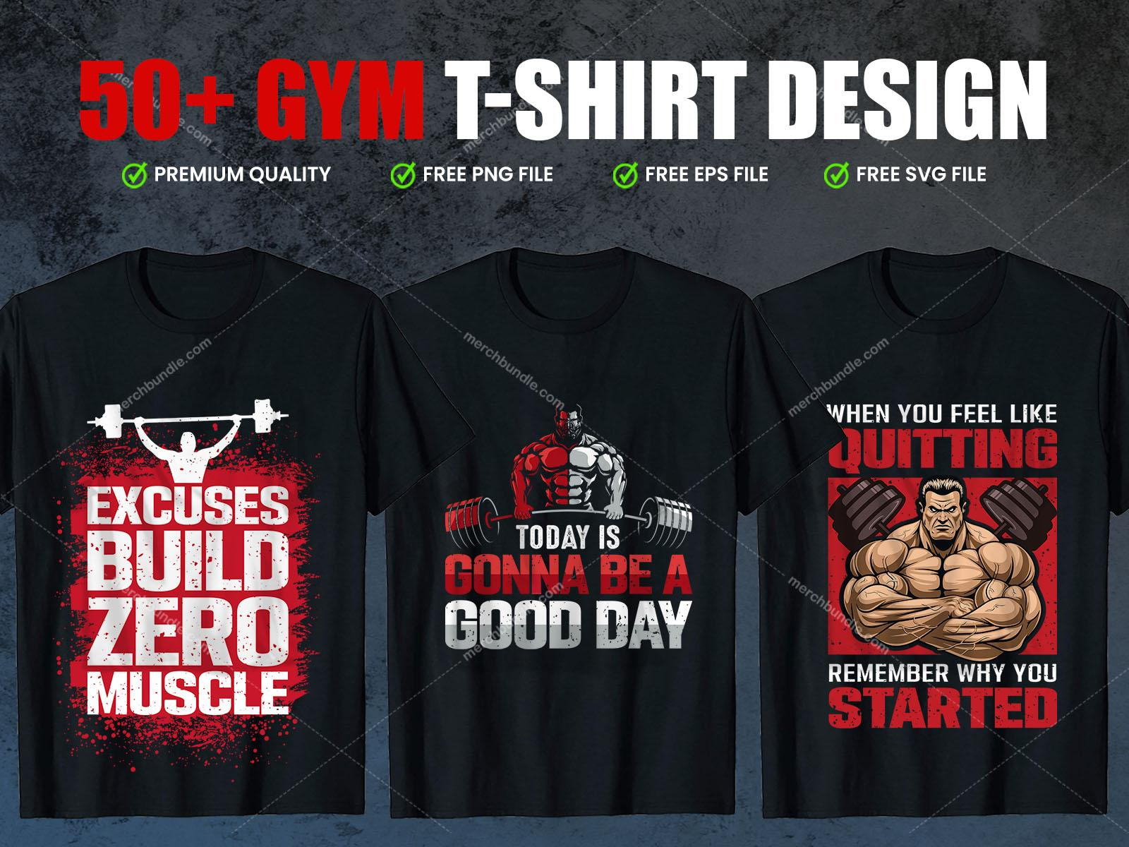 Workout And Fitness T-shirt Designs