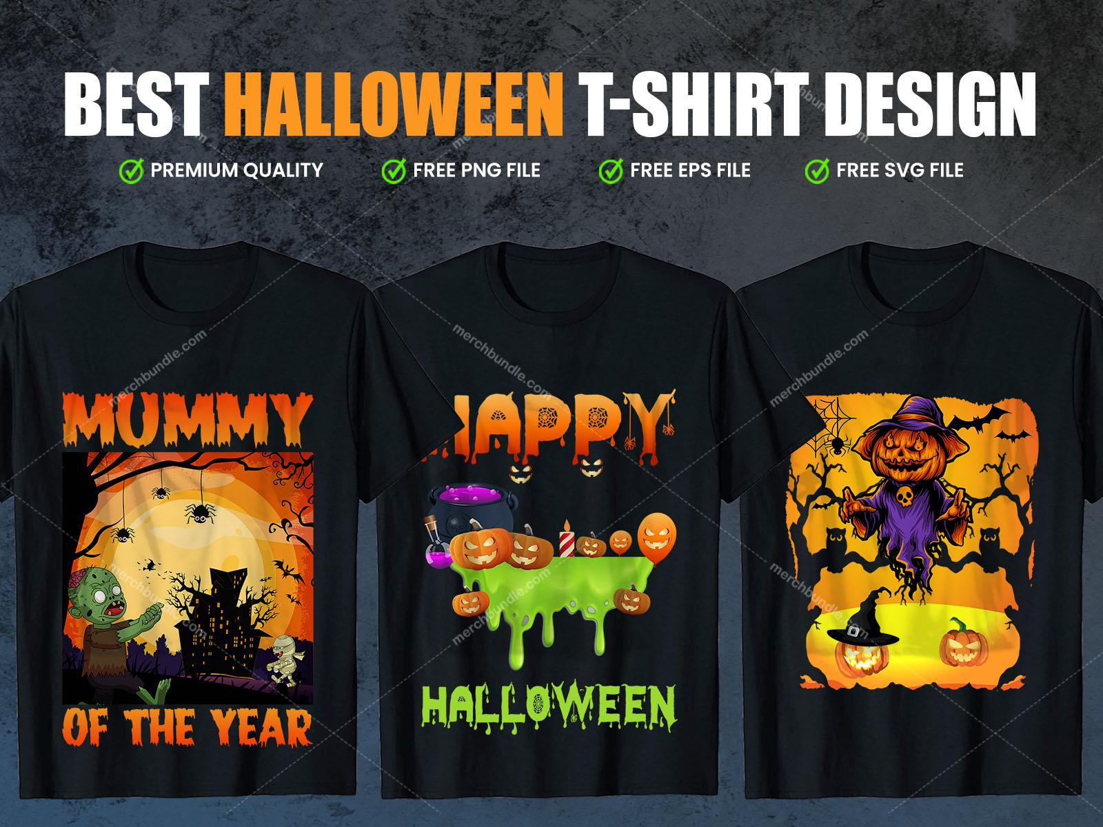 Halloween T-Shirt Design Vector