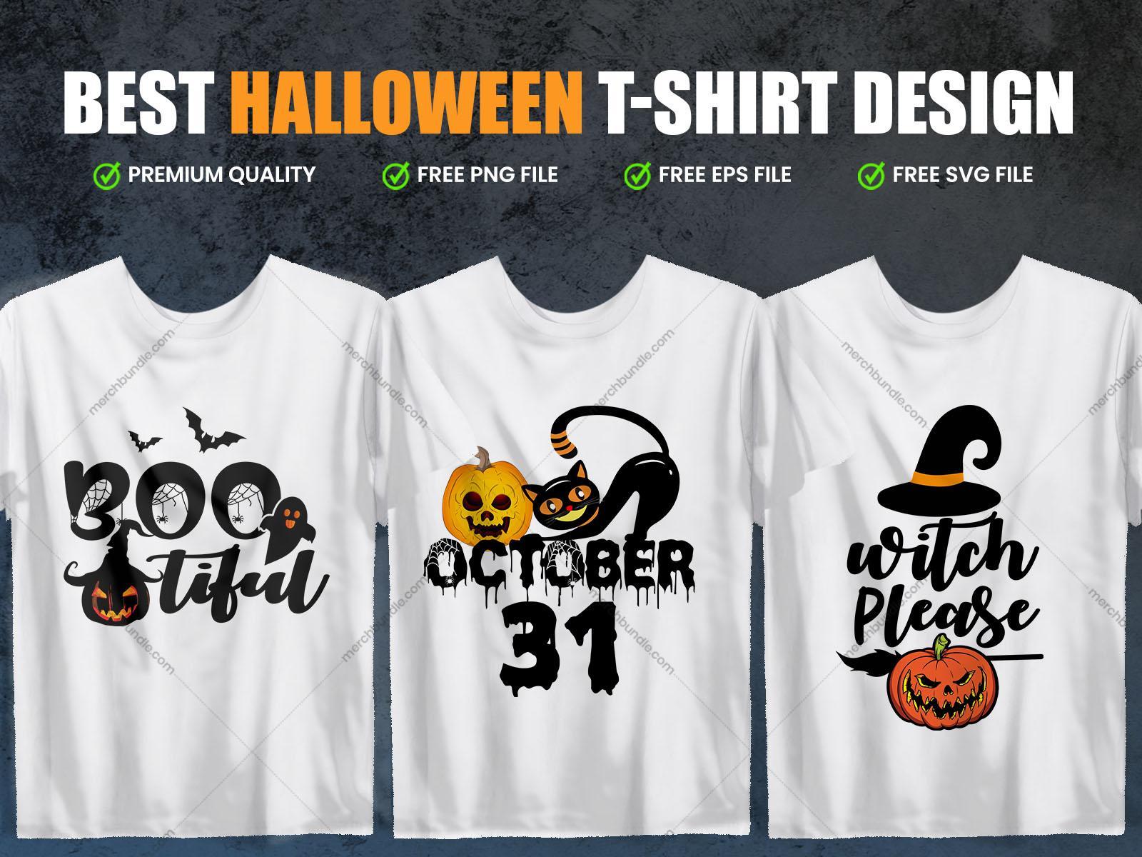 Halloween T-Shirt Design Vector