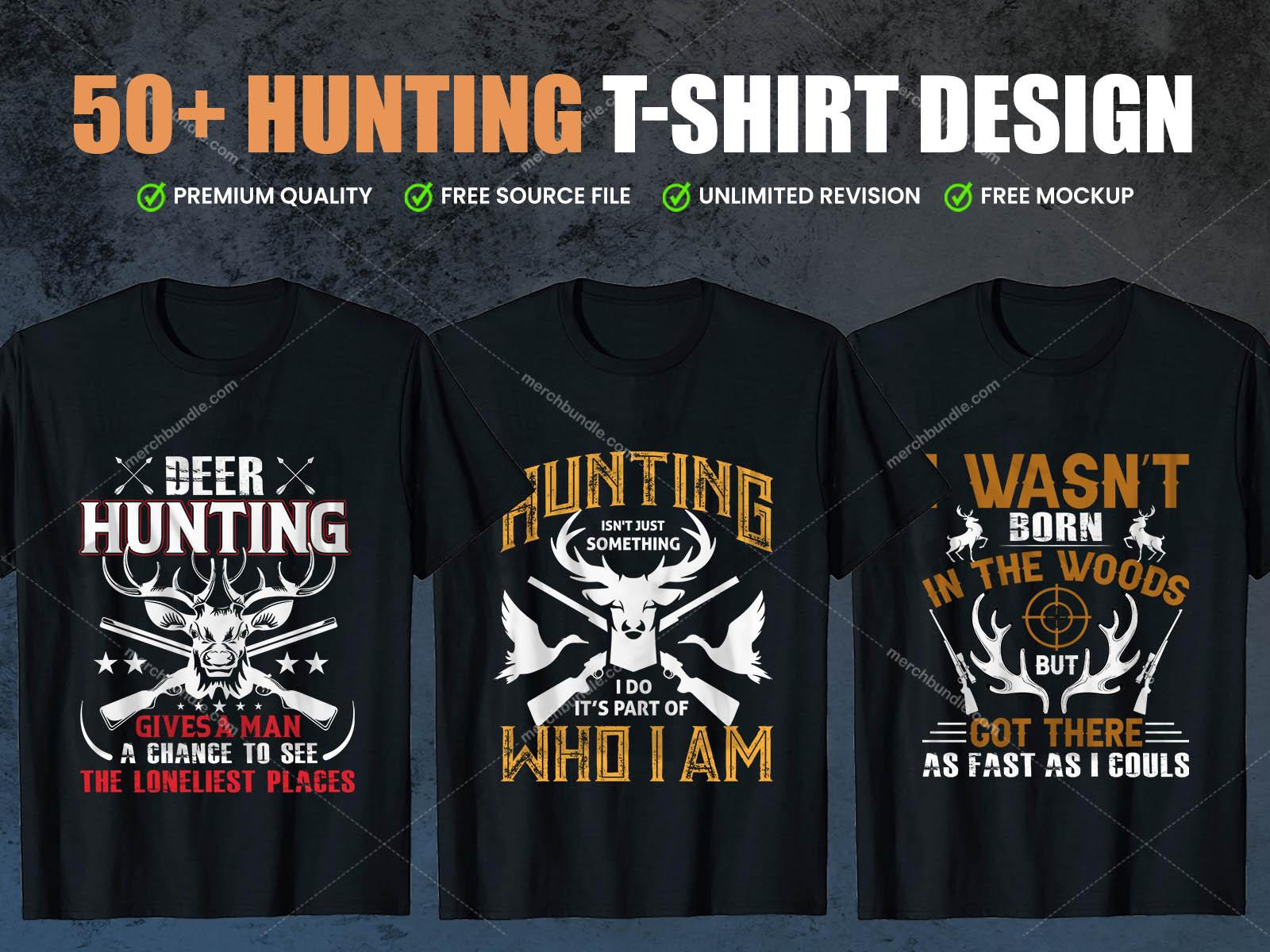 Hunting T-Shirts Design Bundle