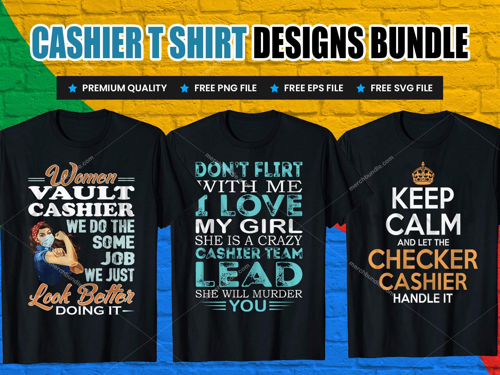 Cashier t shirt design