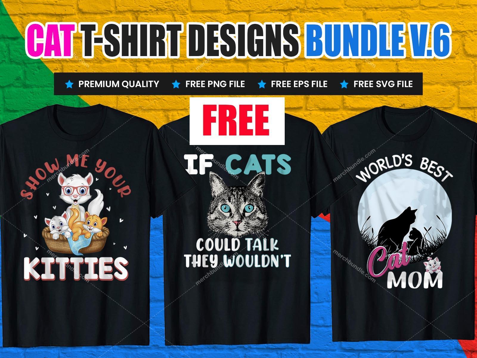 cat free tshirt