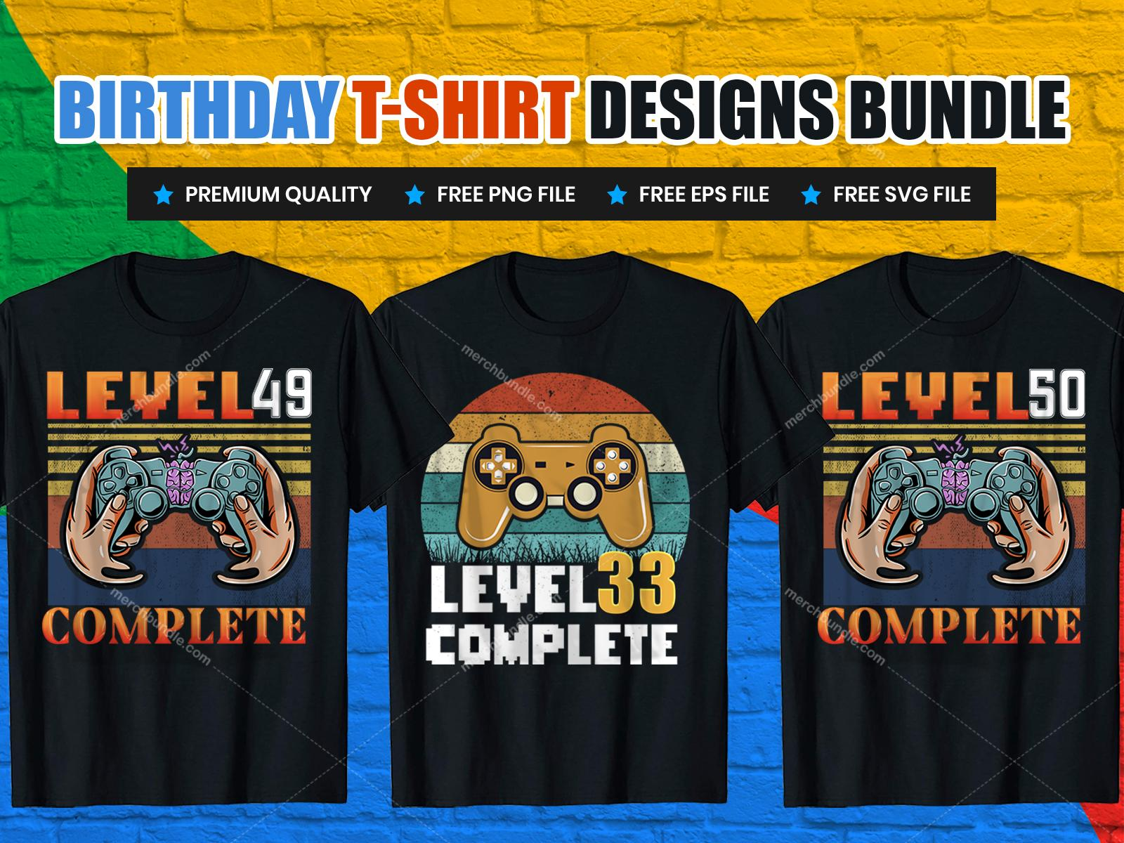 Gaming Birthday Party T-Shirt Designs