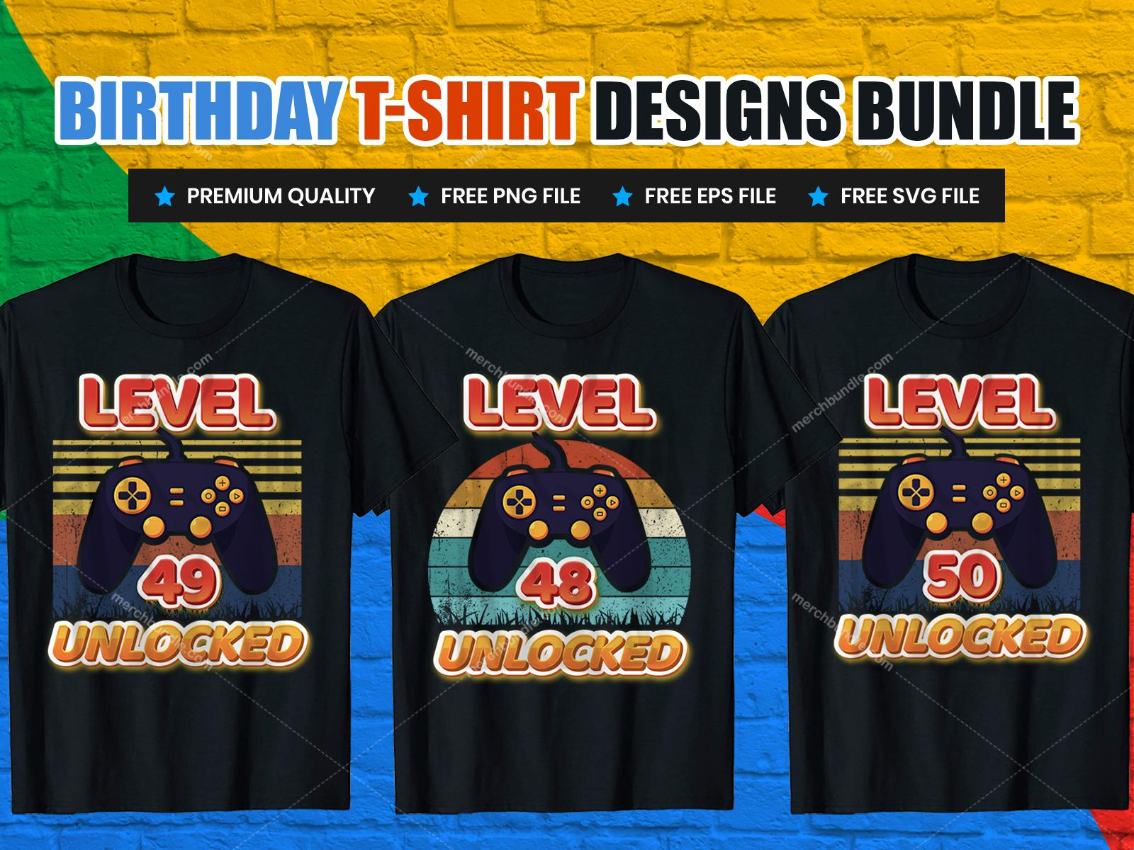 Happy Birthday T-Shirt Design