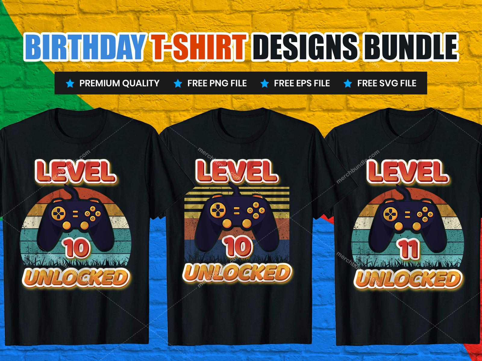 Happy Birthday T-Shirt Design