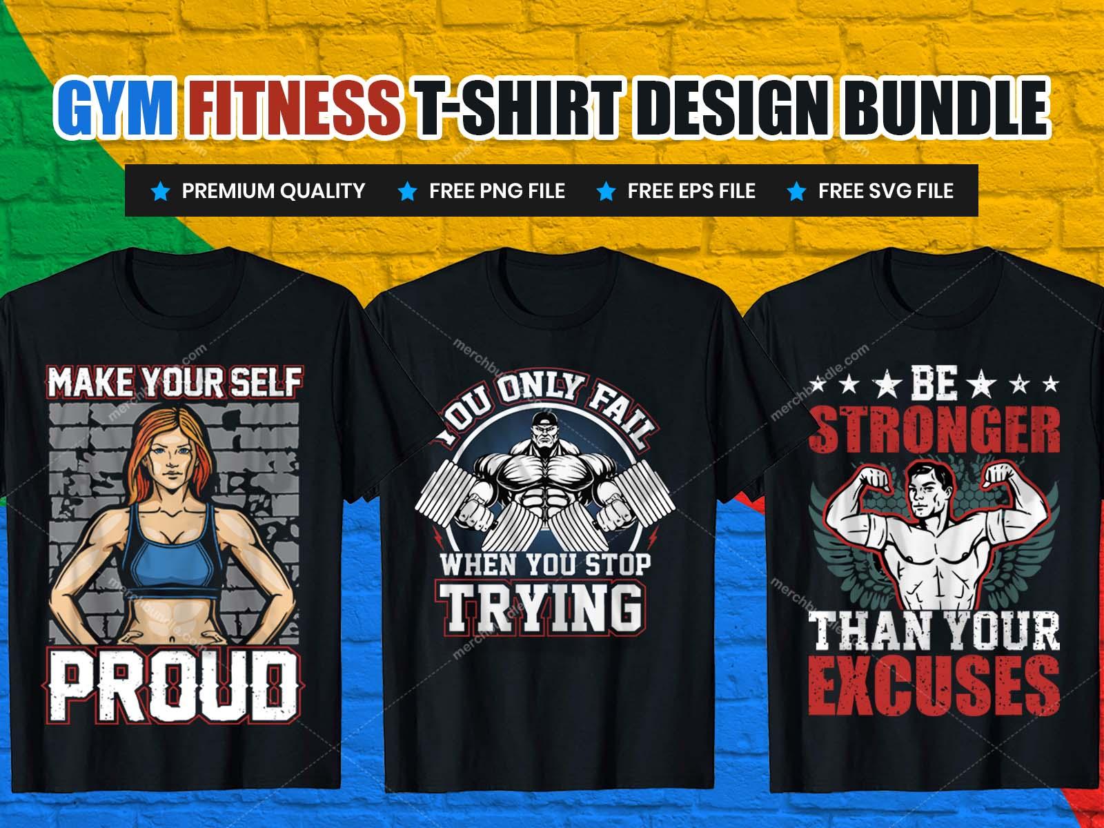 Gym t shirt design