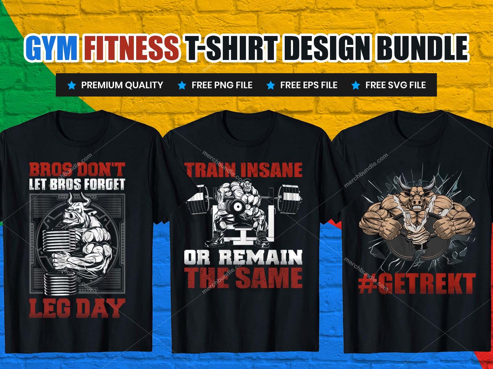 Gym fitness t shirt design