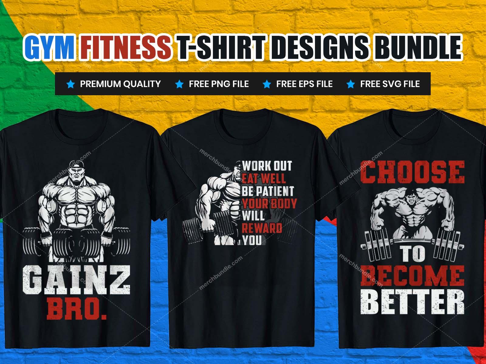 gym fitness t-shirt design