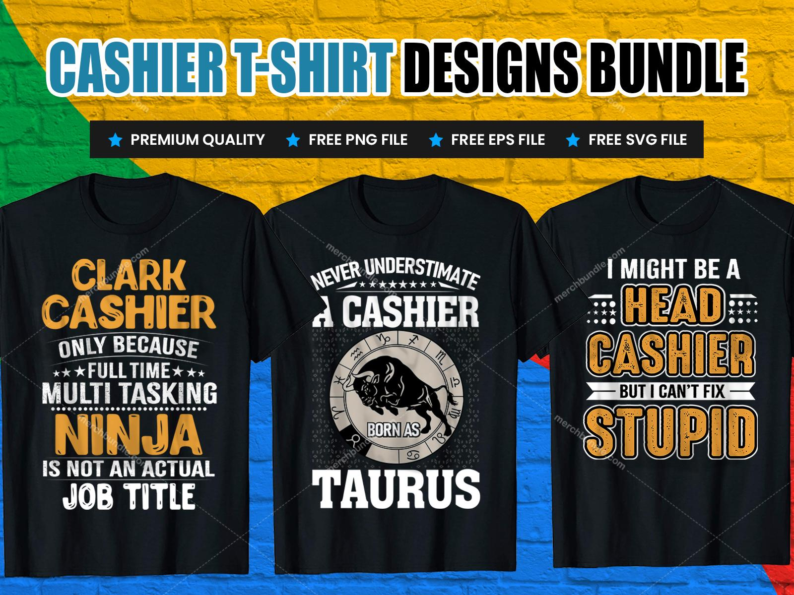 Cashier t shirt design