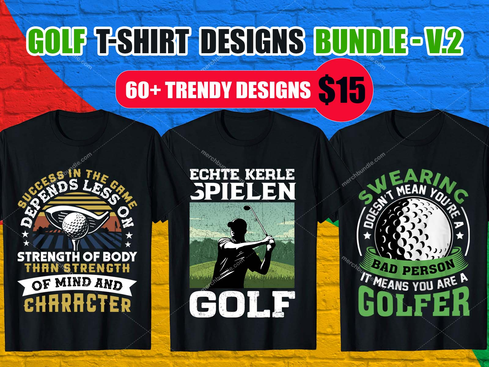 Best Selling Golf T-Shirt Design Bundle