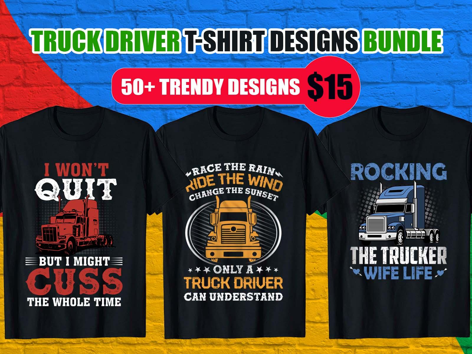 trucker driver t shirt designs