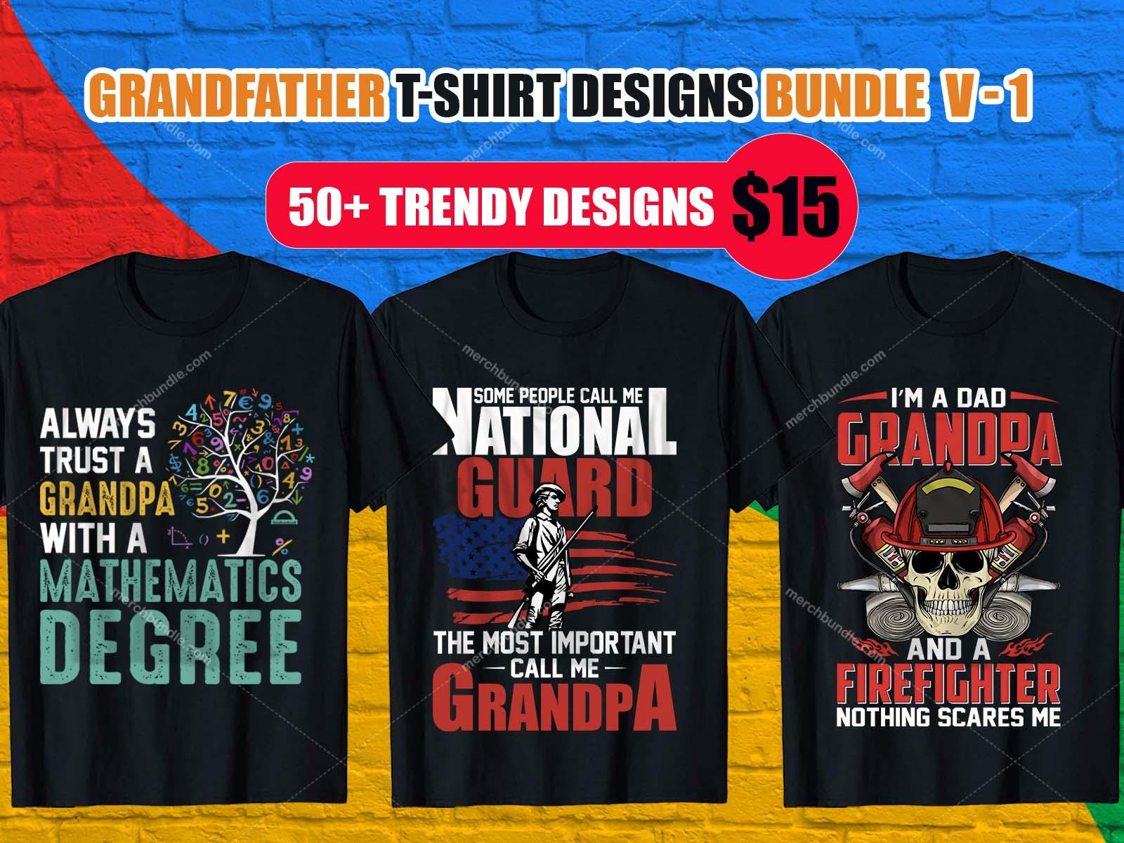 GrandFather Shirt Design Bundle