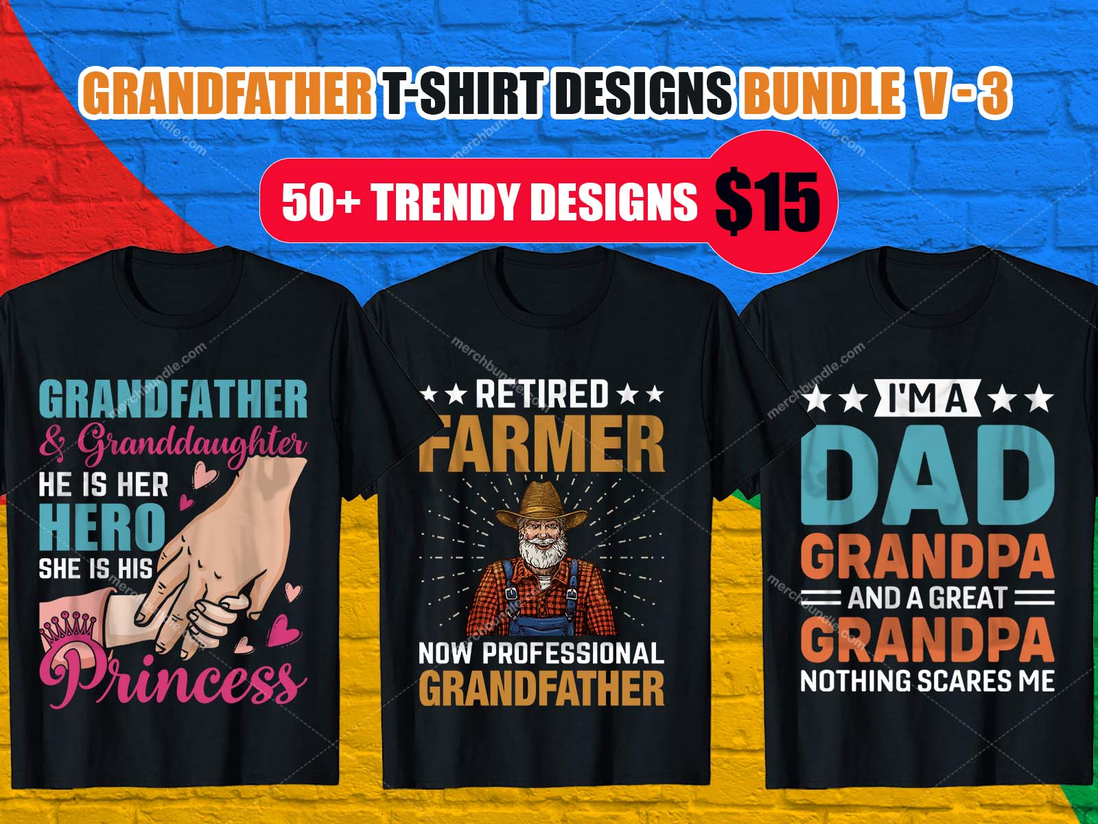 GrandFather TShirt Design Bundle,