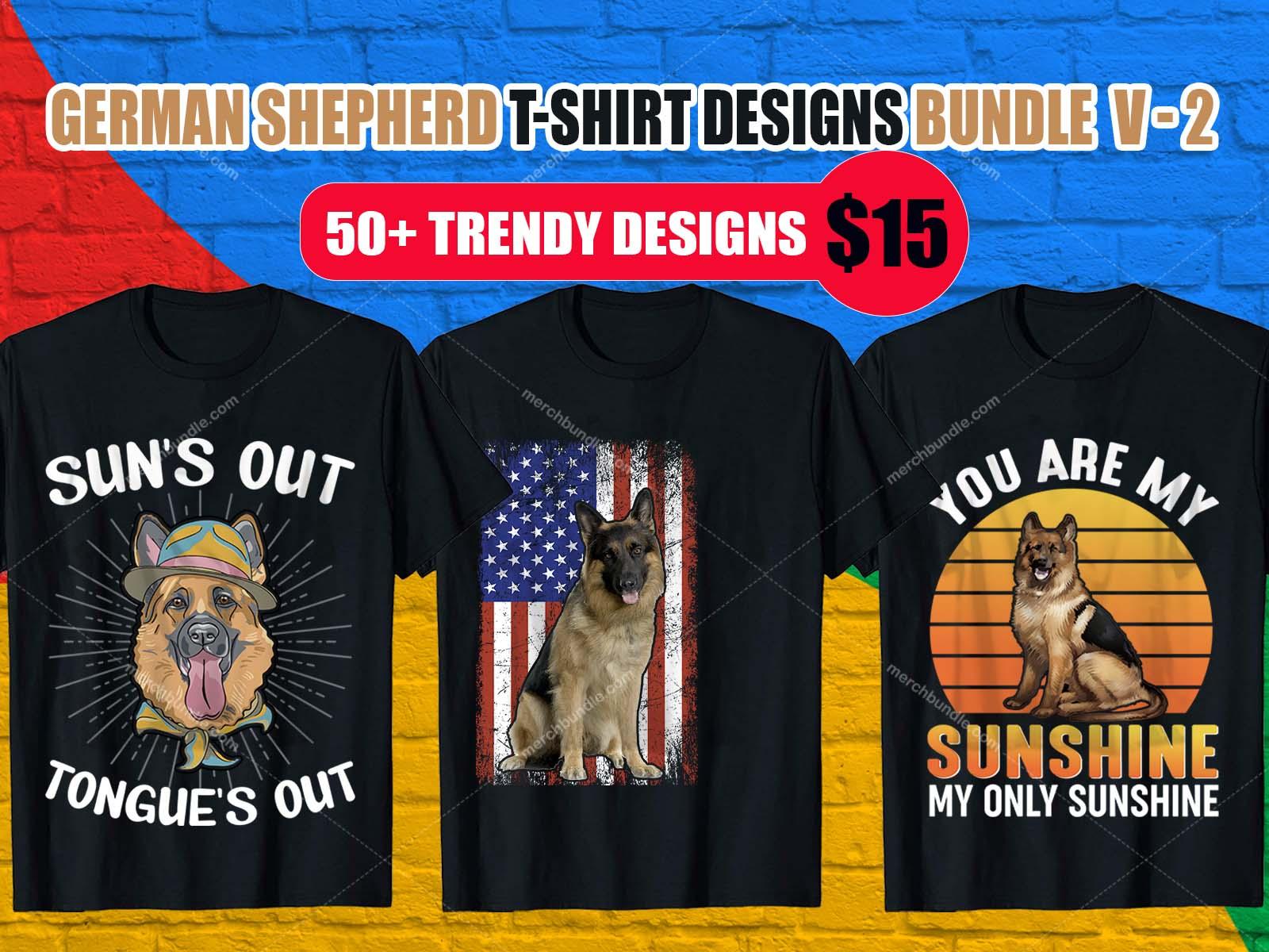German Shepherd T Shirt Designs