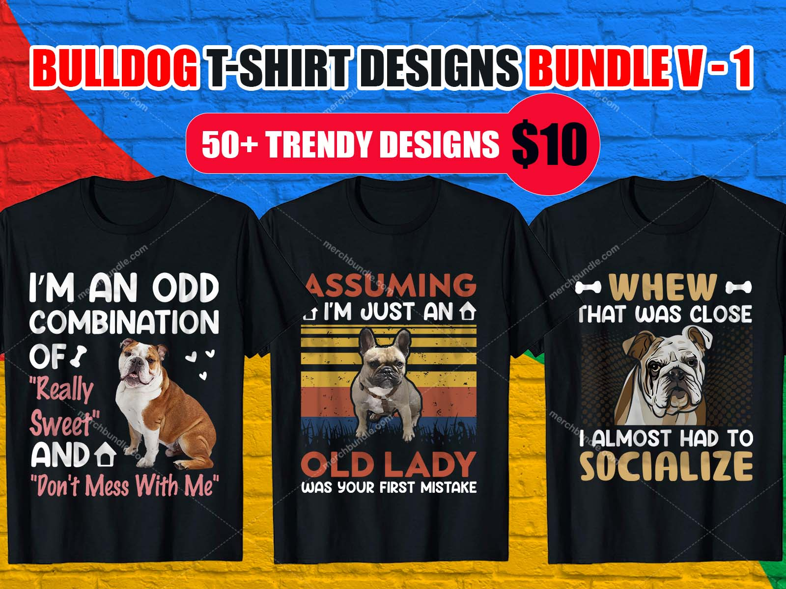 Bulldog T Shirt Design