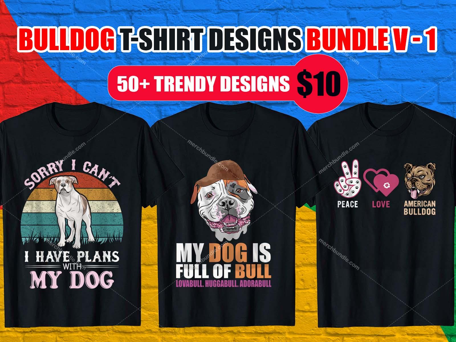 Bulldog T Shirt Design