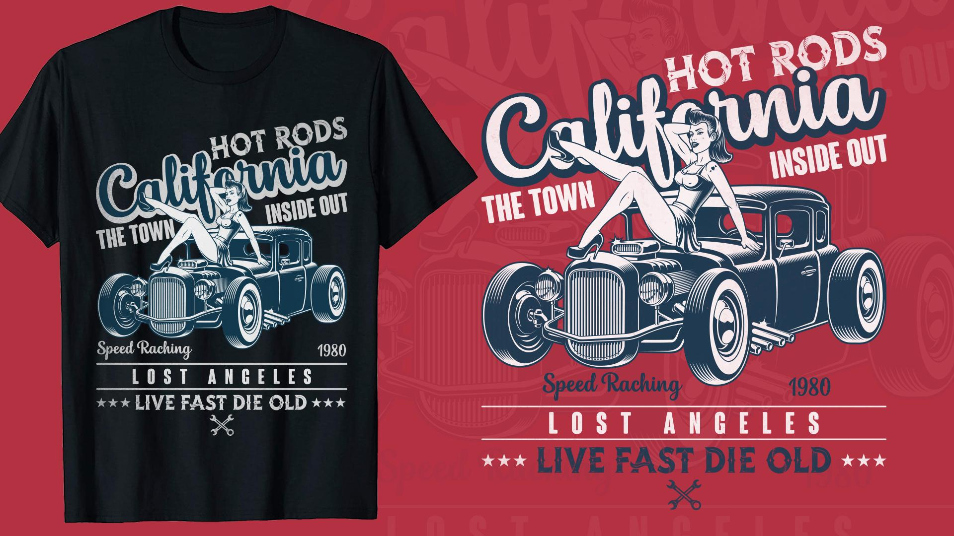 Vintage Car T Shirt Design