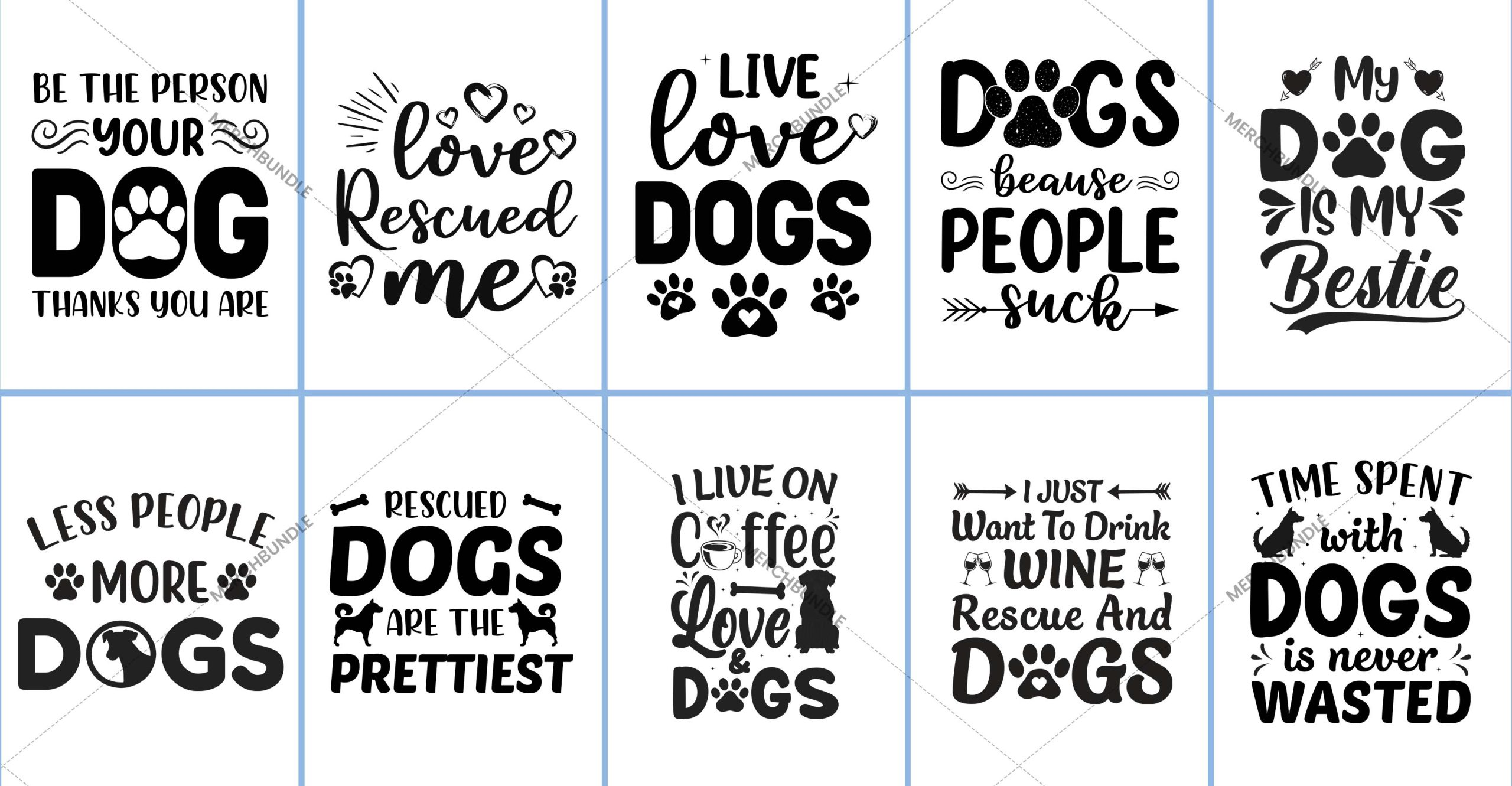 Dog Typography T-Shirt