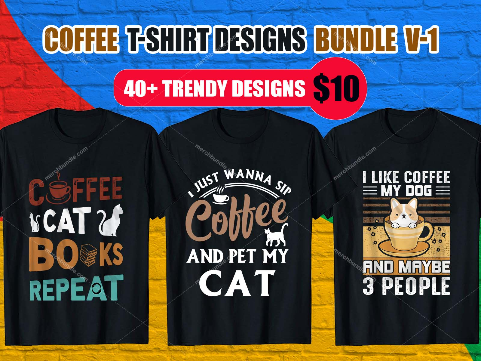 Coffee T-Shirt Design Bundle